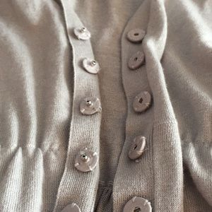 Burberry Sweaters - Burberry belted VNeck Cardigan Wool/silk/cashmere